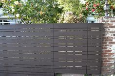 painted horizontal fencing | Horizontal fence, varied size planks (with a big/little regular ...