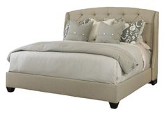 Oslo Tufted King Headboard  Traditional, Transitional, Upholstery  Fabric, Wood, Bedroom by Century Furniture