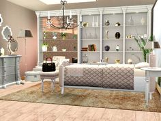 Here is my single Bedroom for the Power of Pink Series. The meshes have now white wood but there is still a black coloroption included that you can match it with all objects of the Series. Its a...