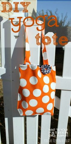 DIY Yoga Tote - The Ribbon Retreat Blog  Introduction for Kids to sew a bag