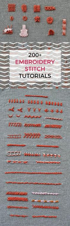 Over 200 embroidery stitches in one ebook by dixie