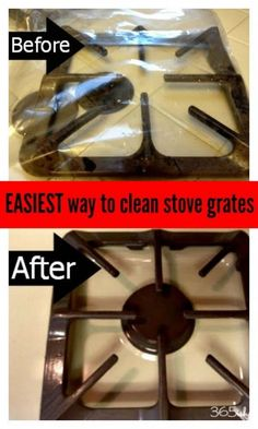 How to Easily Clean Stove Grates (No Scrub Way). Use gallon zip lock baggies and tbsp ammonia to really clean your stove grates. Just place in an airtight bag with ammonia, leave outside overnight! It really works! Deep Cleaning Tips, House Cleaning Tips, Diy Cleaning Products, Spring Cleaning, Cleaning Hacks, Cleaning Recipes, Cleaning Solutions, Cleaning Routines, Cleaning Checklist