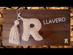 """Abecedario a crochet tamaño llavero letra """"R"""" ✔ YouTube - YouTube"""