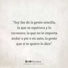 """""""Soy fan de la gente..."""" #reflexiones"""