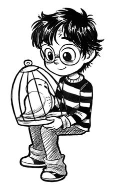 Harry by Courtney Godbey Fanart Harry Potter, Harry Potter Tumblr, Harry Potter Kawaii, Harry Potter Kunst, Harry Potter Sketch, Arte Do Harry Potter, Harry Potter Artwork, Cute Harry Potter, Harry Potter Pictures