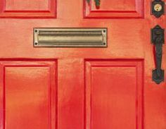 feng shui red color front door south - Cavan Images/Getty Images