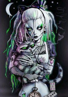 53 best Ideas for alice in wonderland dark art fantasy Zombie Art, Skull Art, Goth Art, Wonderland Tattoo, Fantasy Art, Disney Art, Dark Art, Gothic Art, Alice In Wonderland