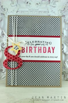 Welcome to a new challenge, and another portion of inspiration from Laurie Schmidlin ! We're easing up on you with layers this time. Scrapbook Paper Crafts, Scrapbook Cards, Scrapbooking, Paper Crafting, Cute Cards, Cards Diy, Beautiful Handmade Cards, Masculine Cards, Kids Cards