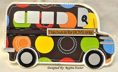 BUS SHAPED CARD - bjl