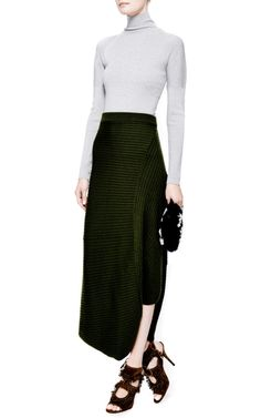 Draped Rib-Knit Maxi Skirt by J.W. Anderson - Moda Operandi