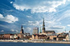 Beautiful sky over Riga!