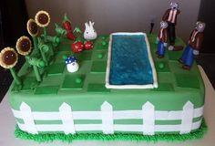 Plants verses zombies cake
