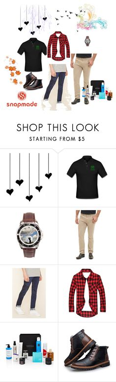 """""""snapmade 18"""" by fatimazbanic ❤ liked on Polyvore featuring Robert Graham, 21 Men, Beauty Box, men's fashion and menswear"""