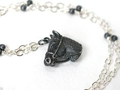 Necklace Tiffany's Horse Head Sterling Silver and by WrennJewelry, $55.00