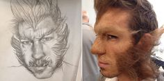 Awesome werewolf illustration & in-class demo at the Blanche Atelier Campus by Makeup Director Todd McIntosh last week. Which students were the ones lucky to see this one come to life!