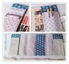 Taschenorganizer - BLÜTEN GRAU - Organizer/Kalenderhülle DIN A6 - ein Designerstück von miss-kornblume bei DaWanda