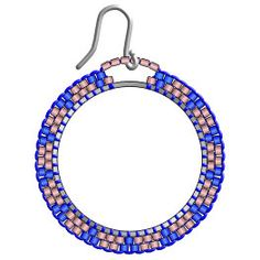 These beautiful hammered hoop earrings are incredibly cute. I form these earrings into a very flattering, hand-formed diamond shape. Seed Bead Jewelry, Bead Jewellery, Seed Bead Earrings, Simple Earrings, Beaded Jewelry, Beaded Earrings Patterns, Beaded Tassel Earrings, Jewelry Patterns, Brick Stitch Earrings