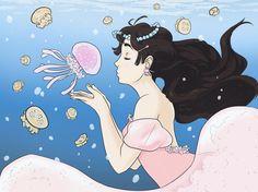 Kuragehime by Mo-the-half on DeviantArt Princess Jellyfish, Awesome Anime, Ocean Waves, Me Me Me Anime, Minnie Mouse, Disney Characters, Fictional Characters, Deviantart, Manga