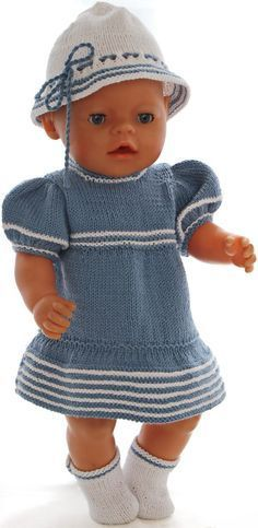 Baby Born Knitting pattern for doll clothes - Beautiful summer clothes for your girl doll . Aunt Baby Clothes, Boho Baby Clothes, Gender Neutral Baby Clothes, Baby Clothes Online, Summer Clothes, Knitting Dolls Clothes, Crochet Doll Clothes, Doll Clothes Patterns, Clothing Patterns