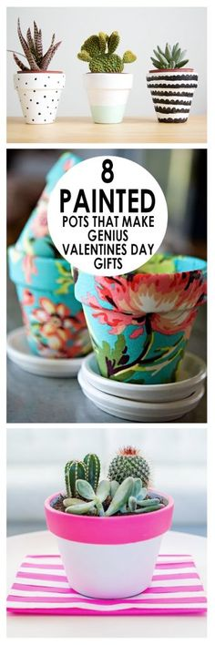 Valentines Day Gifts, Painted Pot Gifts, How to Paint a Pot, Cute Ways to Paint a Pot, Valentines Day Gift Ideas, Easy Valentines Day Gifts, Gift Ideas for Friends, Gift Ideas for Neighbors, DIY Holiday Gift Ideas, Popular Pin