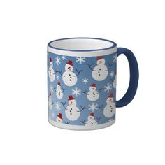 Christmas Snowman Pattern Mugs Christmas Coffee, Christmas Snowman, Custom Mugs, Den, Tea Cups, Coffee Mugs, Cartoon, Cool Stuff, Tableware