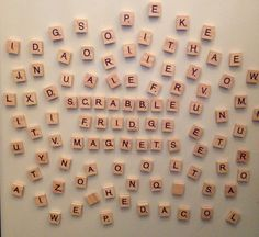 100 piece of Vintage styled wooden Scrabble alphabet letter tile magnets, a perfect subtle addition to any home or office, small gift or stocking filler.  Each set contains the following letters: A-9, B-2, C-2, D-4, E-12, F-2, G-3, H-2, I-9, J-1, K-1, L-4, M-2, N-6, O-8, P-2, Q-1. R-6, S-4, T-6, U-4, V-2, W-2, X-1. Y-2, Z-1, Blank-2  All tiles measure 18x20mm. Leave your partner sweet messages or reminders to go to the shop, or compete with your work colleagues to score the highest on your…