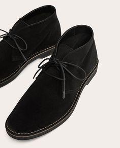 detailed look 231c5 89695 BOTÍN PIEL NEGRO de Zara Botines Hombre Negro, Hombres Negros, Zapatos,  Piel,