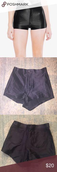 "American apparel ""disco"" shorts Black American apparel ""disco"" shorts. Worn 6 times. Fit like hot shorts. Short and tight. American Apparel Shorts"