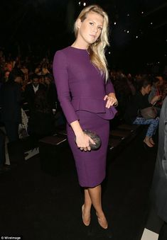 Alexandra Richards attends the Elie Saab show as part of Paris Fashion Week