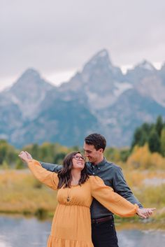 man and woman posing during engagements in tetons Engagement Outfits, Engagement Couple, Engagement Session, Beautiful Stories, How To Feel Beautiful, Teton Mountains, Engagement Celebration, Just Engaged, Female Poses