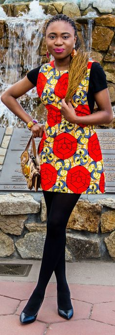 This fashion blogger knows how to rock an ankara African print outfit. African fashion, Ankara, African prints,  Nigerian fashion. Click to see the rest of her looks.