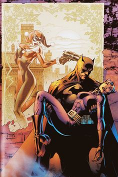 Batman, Harley and Catwoman by Jim Lee