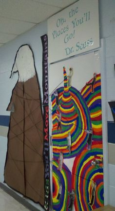 Dr. Seuss themed classroom door.