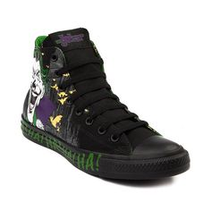 Shop for Converse All Star Hi Joker Athletic Shoe in Black at Journeys Shoes. Shop today for the hottest brands in mens shoes and womens shoes at Journeys.com.Hes at it again, that purple suited, green haired nemesis, playing sick jokes with nothing but a twisted grin and shrieking laugh.