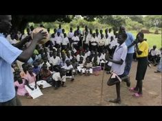 A MAG landmine awareness session in Morobo, South Sudan: the most important lesson these schoolchildren will receive.