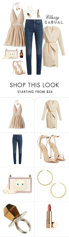 """Girls Night Out"" by daisy-pippin ❤ liked on Polyvore featuring Vanessa Bruno, Yves Saint Laurent, Nasty Gal, Gucci, BaubleBar and Tom Ford"
