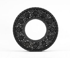 """Adding to his career of turning everyday forgotten objects into pieces of art, Belgian artist Wim Delvoye created his latest series """"Pneu"""" (French for tire). Using discarded tires, Wim hand carved incredibly intricate patterns using . Art Cube, Tire Art, Tyres Recycle, Repurpose, Reuse, Used Tires, Buy Tires, Recycled Art, Recycled Tires"""