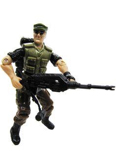 gijoe night force | 1989 GIJoe Repeater NIGHT FORCE STEADI-CAM MACHINE GUNNER