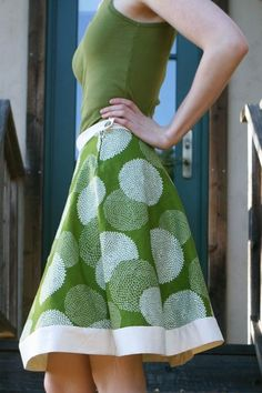 One Hour Skirt, straight forward pattern making
