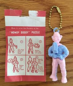 Vintage Howdy Doody Complete Puzzle Key Chain w Directions Great Condition | eBay