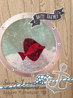 Stampin' Up! ® Demonstrator Sarah Lancaster | ORDER STAMPIN' UP! ONLINE 24/7 HERE: VIDEO | Shaker Saturday | Seaside Shore Gel Card
