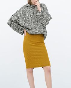 ZARA - COLLECTION SS15 - JACQUARD MINI SKIRT