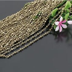 high quality jewelry chain 6x2.5 mm prismatic brass chain 2 meters. $11.58, via Etsy.