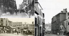 See old photos of Carrington Street before the Broadmarsh Centre was built - Nottinghamshire Live Nottingham City Centre, Castle Gate, Street Pictures, White Building, History Photos, 14th Century, City Streets, Birmingham, Old Photos