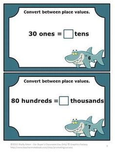 FREE!!! Place Value: Place Value FREEBIE! Here are 10 free math place value task cards to help students convert place values. CCSS.Math.Content.4.NBT.A.1; CCSS.Math.Content.5.NBT.A.1