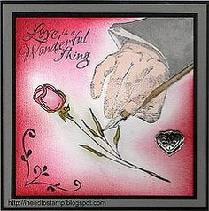 I need to stamp:  hand with rose