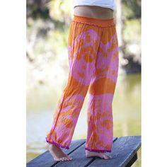 Pink and Orange Pompom Pants #naturallife, #pinittowinit, #pinhappy