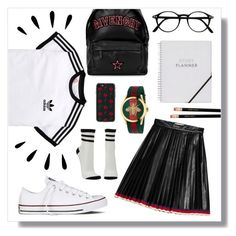 """""""Style for school"""" by soluther ❤ liked on Polyvore featuring adidas Originals, Givenchy, Gucci, Old Navy, Charlotte Russe, Converse and Zero Gravity"""