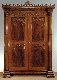 Solid Mahogany Gilt Gold Leaf French Ornate Mirrored ...