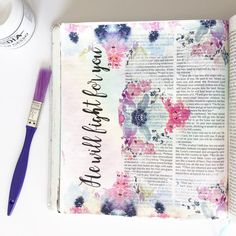 """🌸""""He will fight for you"""" 🌸 Fight For You, Illustrated Faith, My Bible, Journalling, Bullet Journal, Instagram"""